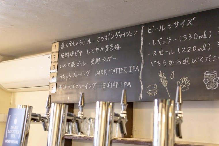 写真:モヤモヤベースのタップリスト