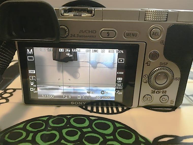 写真:sonyα6000の画面