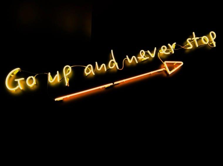 写真:Go up and never stop