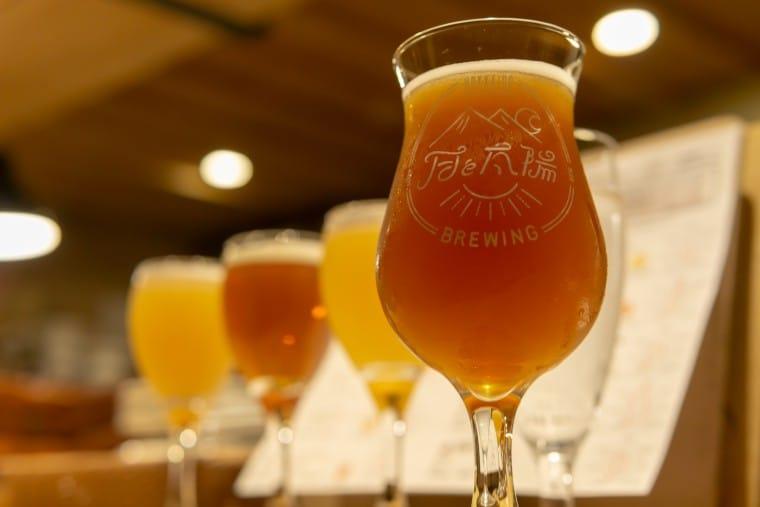 写真:月と太陽Brewingのビール