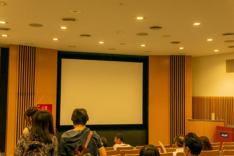 写真:アサヒビール北海道工場の映写室