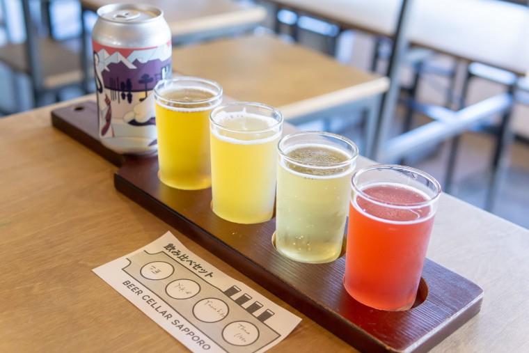 写真:ビアセラーサッポロの4種類飲み比べセット