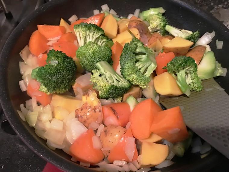 写真:炒めた野菜