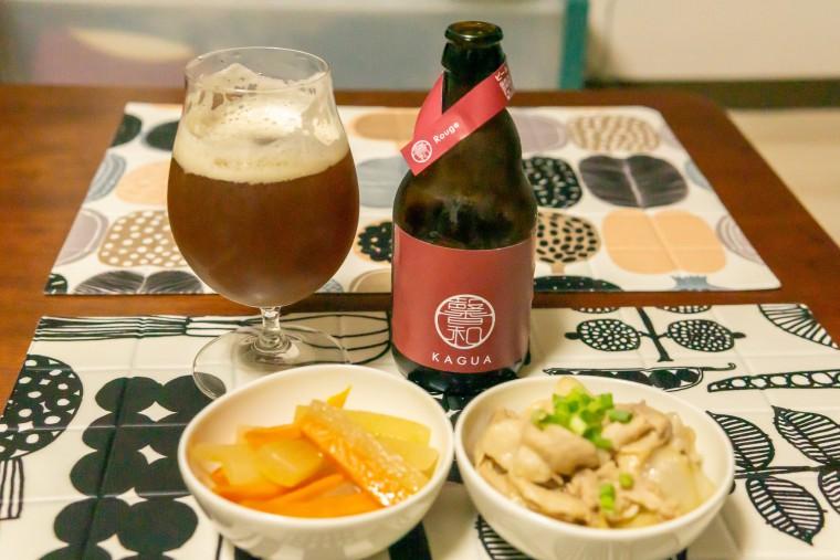 写真:KAGUAルージュと大根と人参のきんぴらと豚肉と野菜の味噌炒め