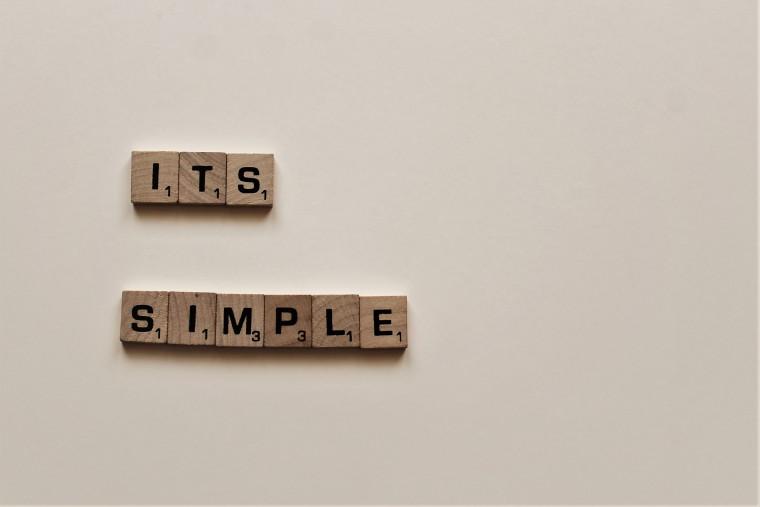 写真:シンプルな表現