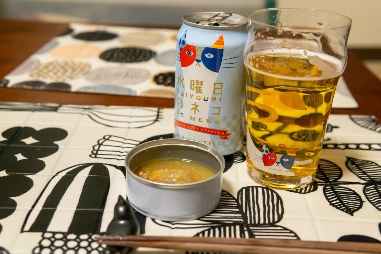 写真:国産焼き鯖の香味野菜マリネと水曜日のネコ