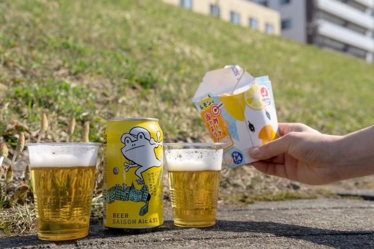 写真:ローソンのからあげクンと僕ビール君ビール