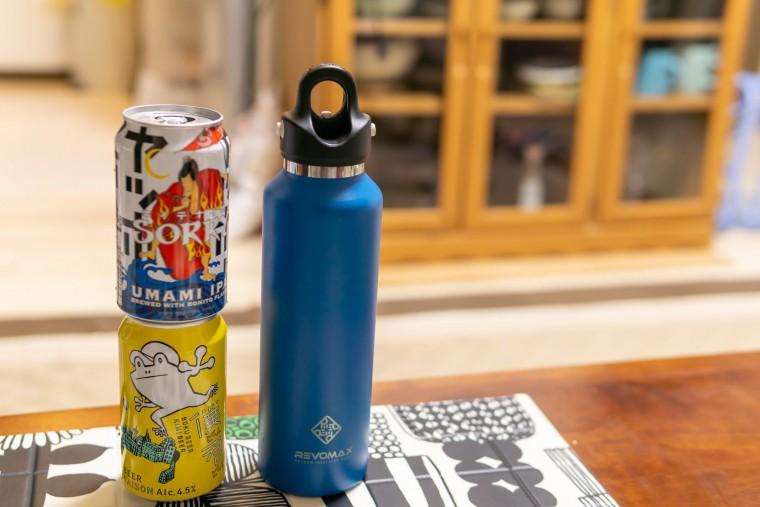 写真:レボマックス2と350ml缶