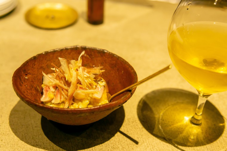 写真:ハーブ鯖と焼きナスの味噌和え